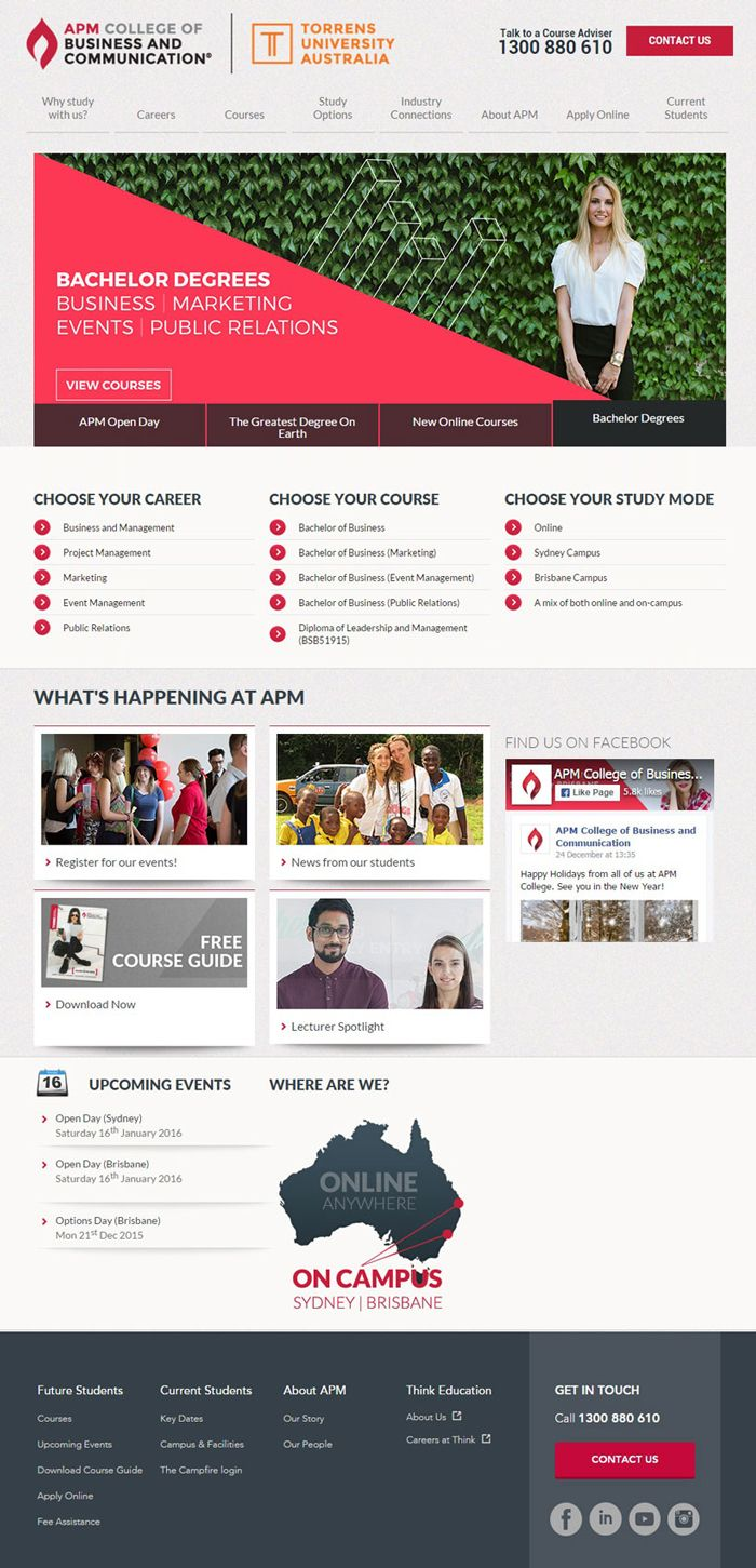 30 University And College Websites Inspiration Designyep College Website University Website Colleges And Universities