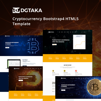 Cryptocurrency faucet html template