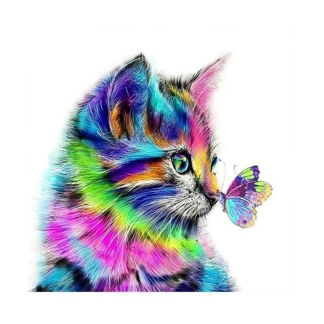 5D DIY diamond painting animal cat full circle rhinestone embroidery beach landscape mosaic mosaic picture home decoration|Diamond Painting Cross Stitch| – Q1741 / Full 30X30CM Round / China