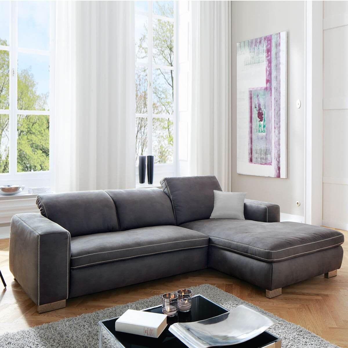 Ecksofa Herlev In Stoffgewebe Grau Sofas Wohnzimmer Wohnzimmer Wohn Design