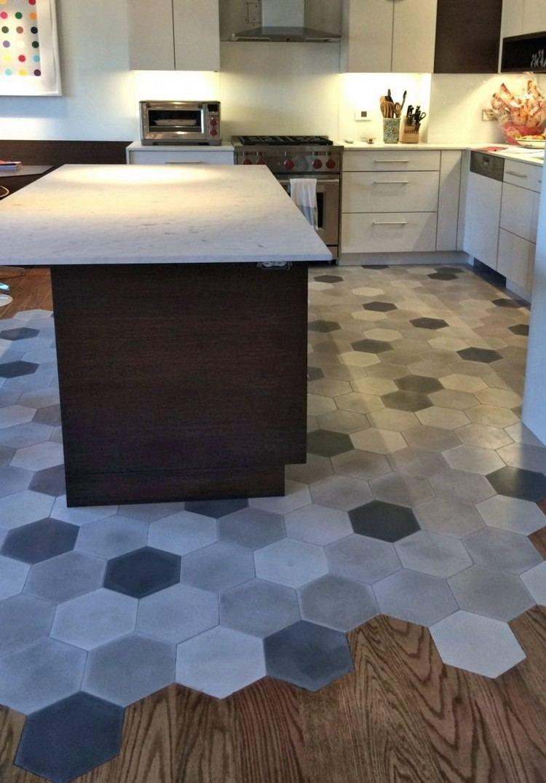 Dynamisez Votre Interieur En Choisissant Le Melange Parquet Carrelage Cuisines Design Cuisine Moderne Amenagement Maison