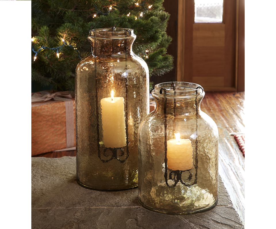 Pendent Glass Candle Lanterns