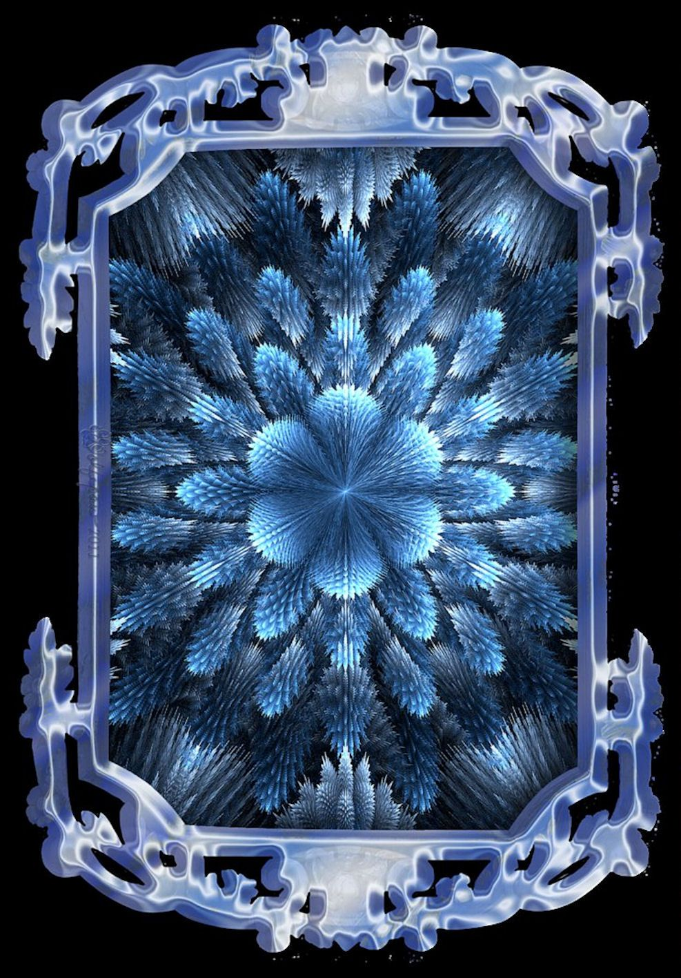 Color art kaleidoscope - Blue