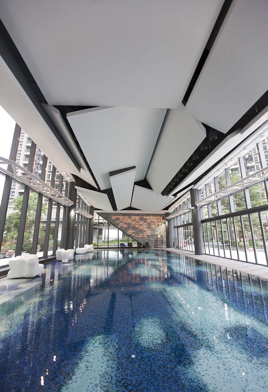 Yoho midtown residential clubhouse spa pool gym for Residential clubhouse designs