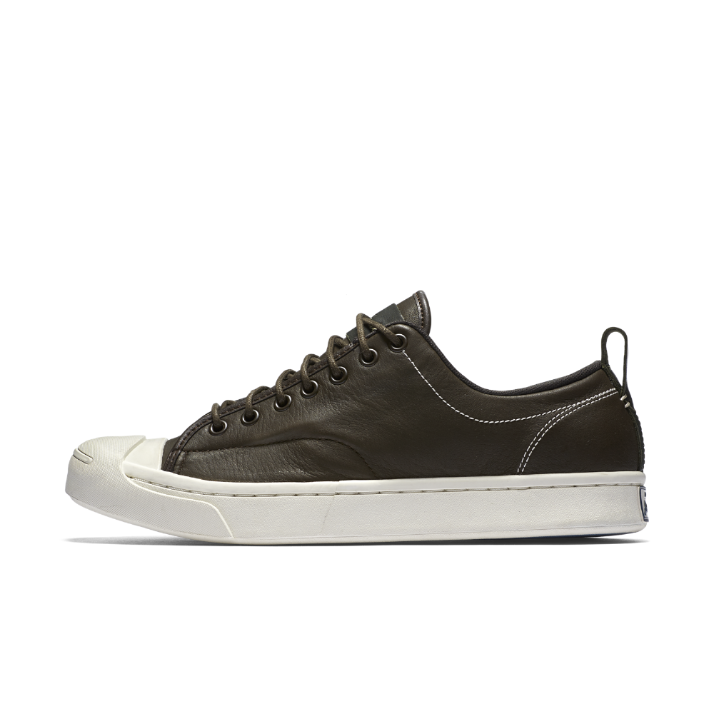 d6efe775a51e Converse Jack Purcell Tumbled Leather Low Top Shoe Size 11.5 (Brown) -  Clearance Sale