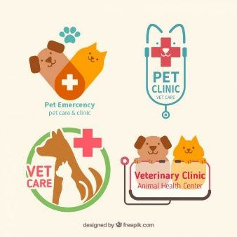 Download Cute Medical Icons In Flat Design For Free Pet Clinic Pet Care Logo Clinic Logo