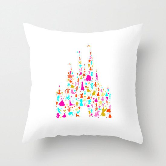 disney castle characters multi color by studiomarshallgifts