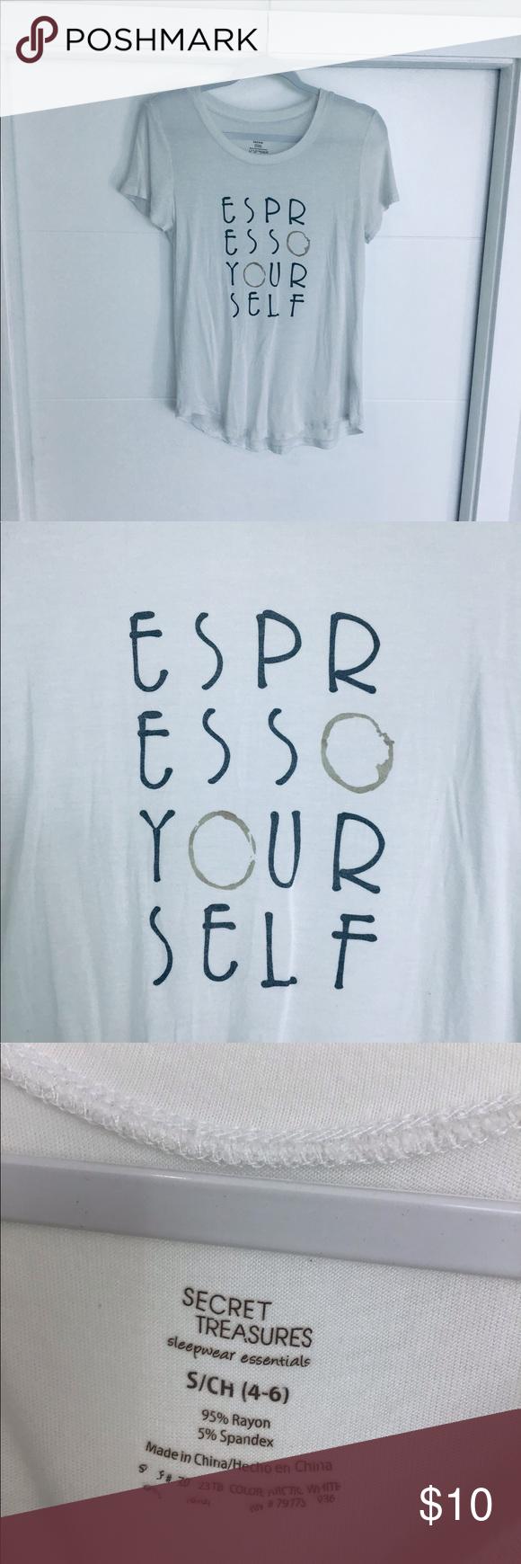 989c2b9c Tshirt Espresso Yourself Longer Tshirt, covers bum Secret Treasures ...