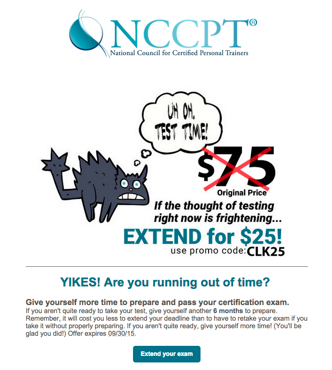 Six Month NCCPT Course Extensions for ONLY $25 | $50 OFF! USE COUPON ...