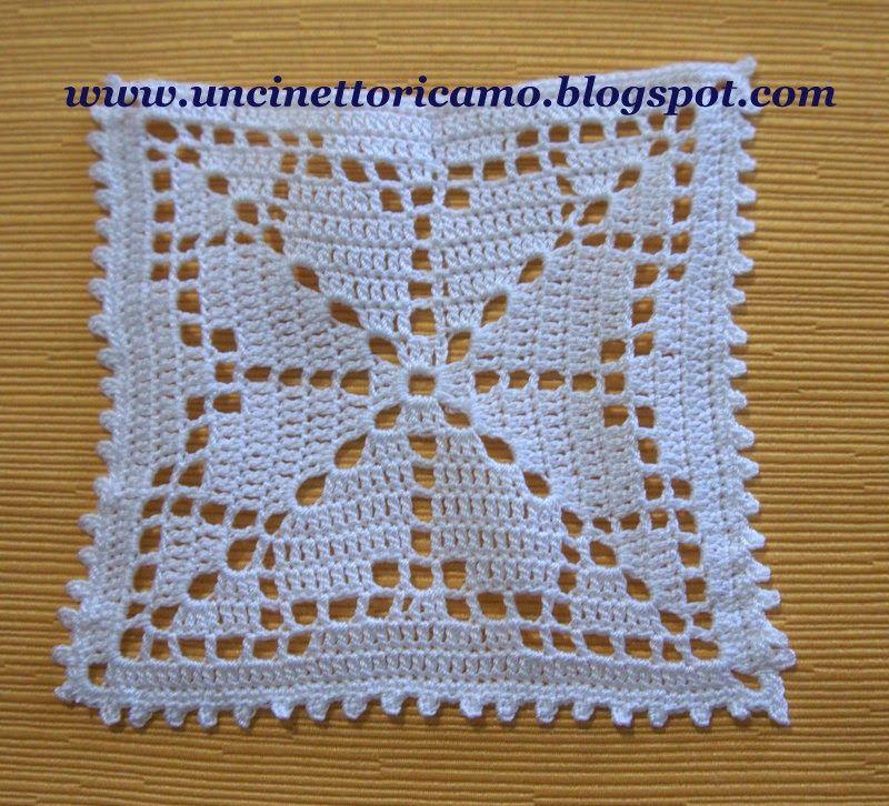 Moderno Abuela Cuadrada Patrón De Crochet Cuadrado Componente ...