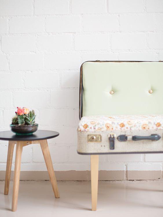 diy anleitung alten koffer zum sessel umbauen via diy furniture pinterest. Black Bedroom Furniture Sets. Home Design Ideas