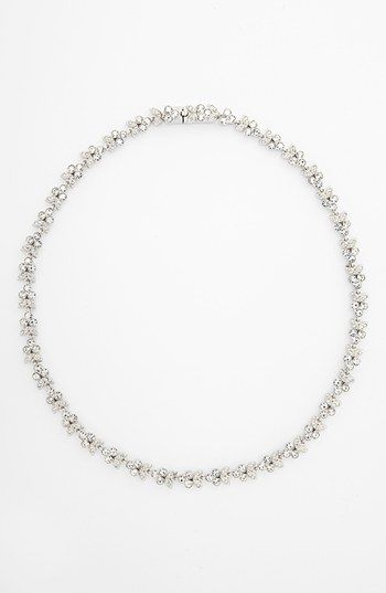 Nadri Small Leaf Crystal Necklace available at Nordstrom My Irish