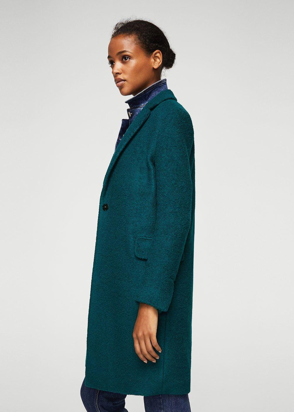Vêtements Structuré Femme En Lana Abrigos Manteau Et Laine wE7IqxF