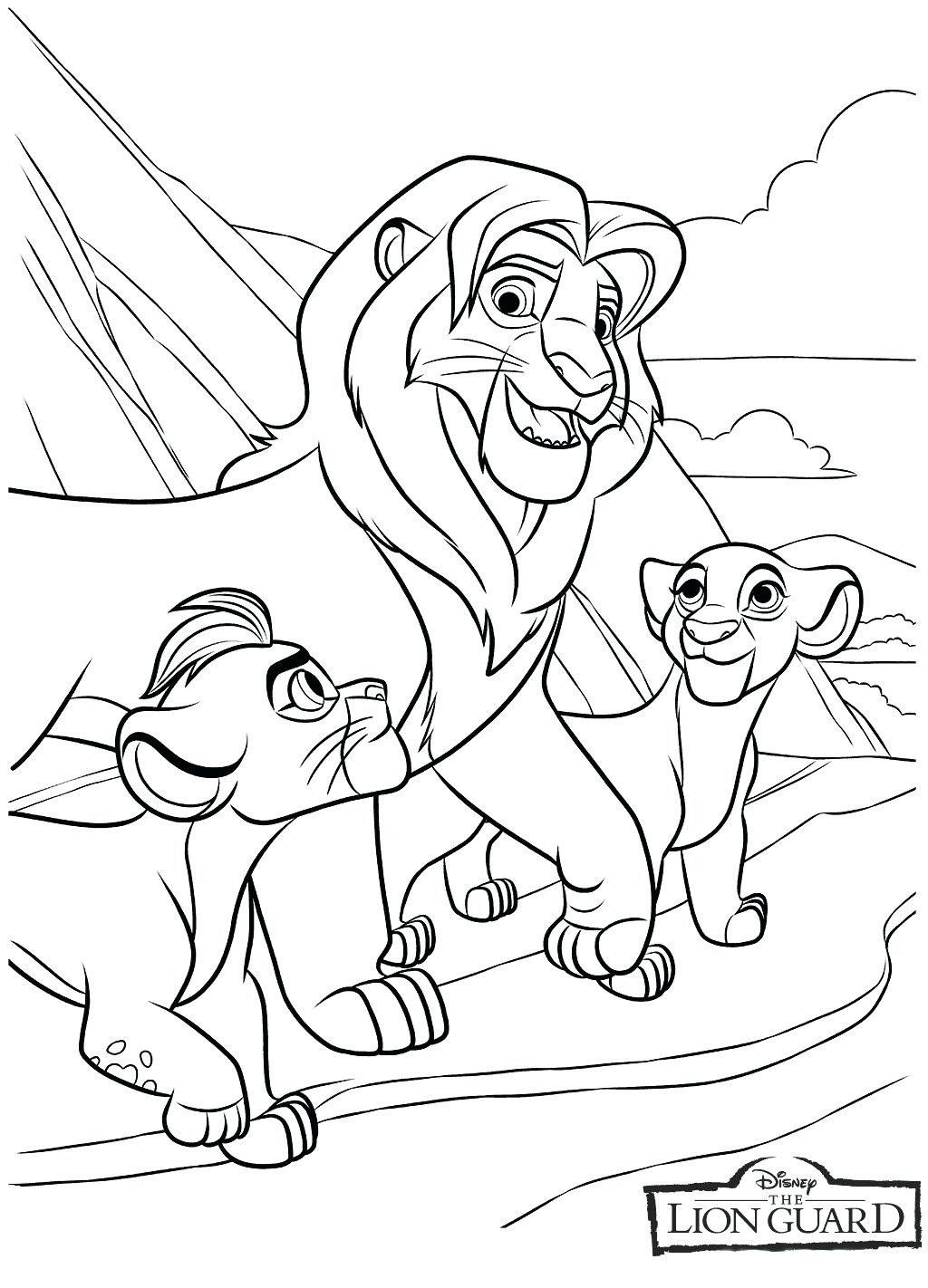 Lion King Coloring Pages Beautiful Coloring Lion Guard