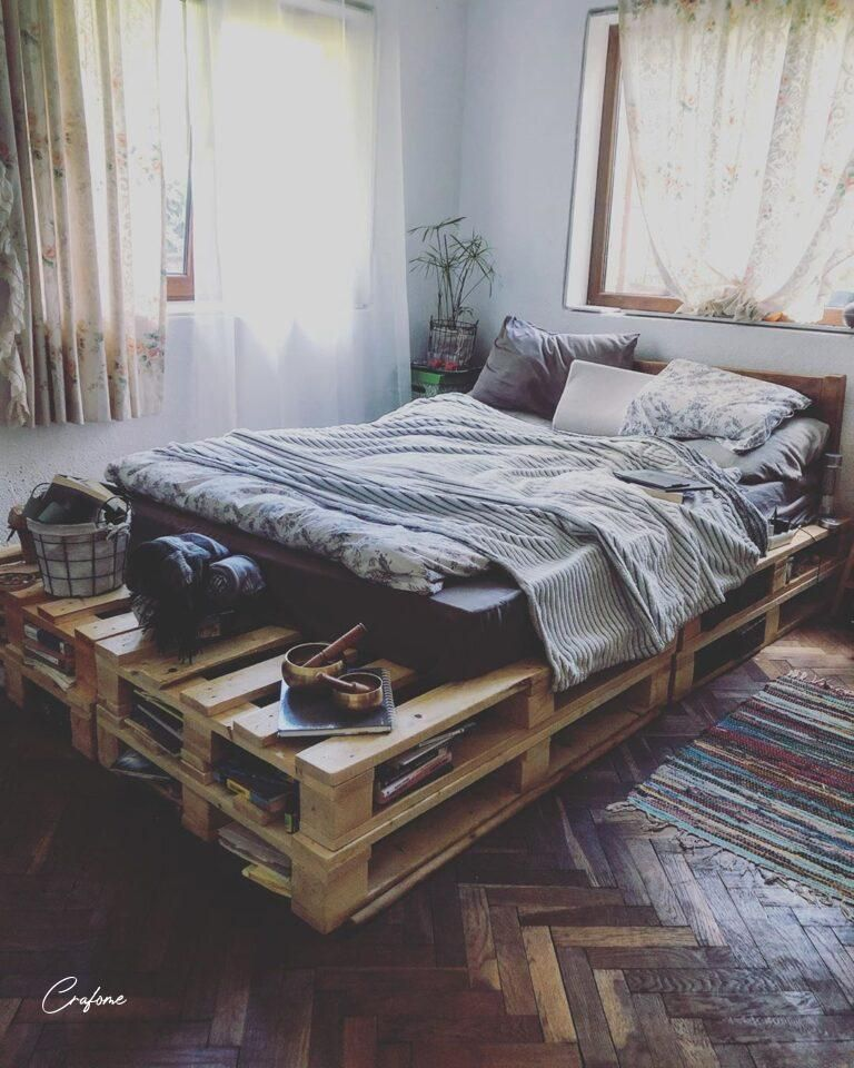 Pin On Pallet Bed Frame Diy