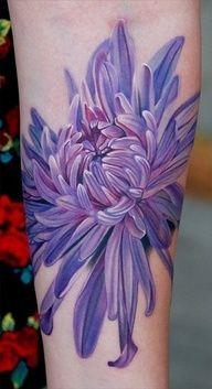 #chrysanthemum #flower by phil garcia #tattoo #color #newschool