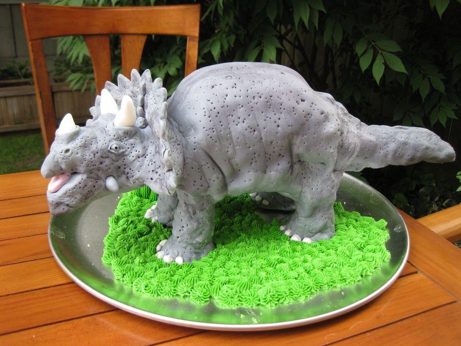 3D Triceratops Dinosaur cake Tutorial Pinterest Dinosaur cake