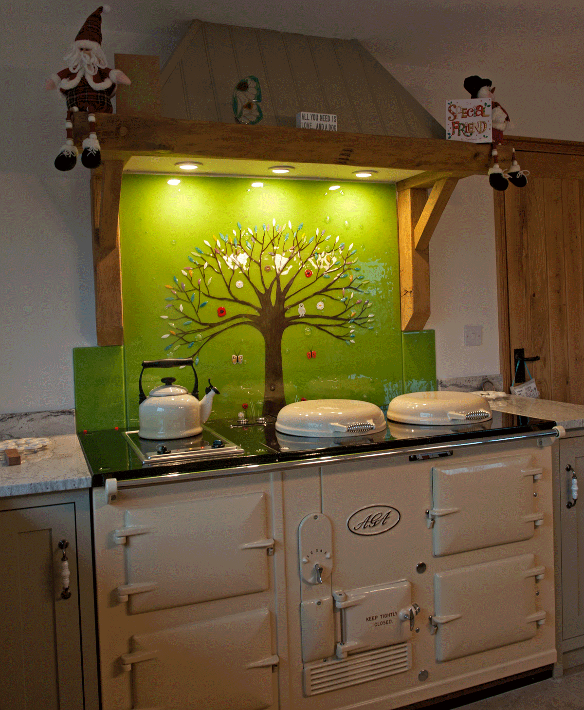 This Kitchen Splashback In Shepton Mallet Features A Tree