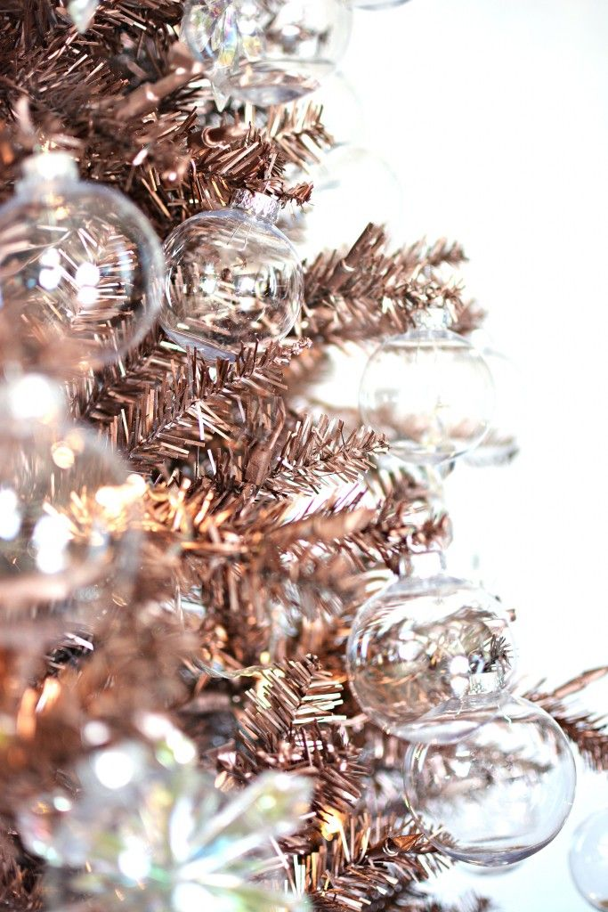 Rose gold Christmas tree // - Rose Gold Christmas Tree // HOLIDAY Pinterest Gold Christmas