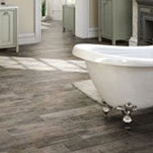 water resistant wood or stone look porcelain tile Bathroom
