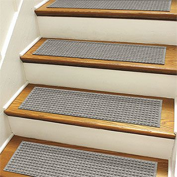 Recycled Water Trapper® Grid Stair Treads, Set of