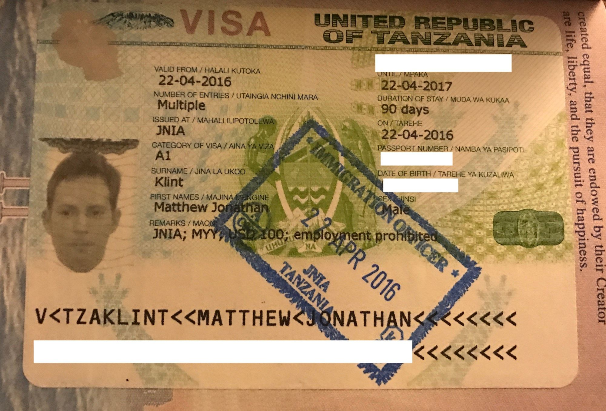 How To Obtain A Visa On Arrival In Tanzania Live And Let S Fly