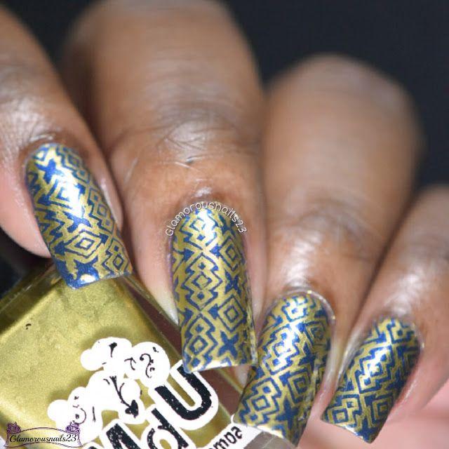 When Colours Collide Royal Blue Gold Nailed It Pinterest