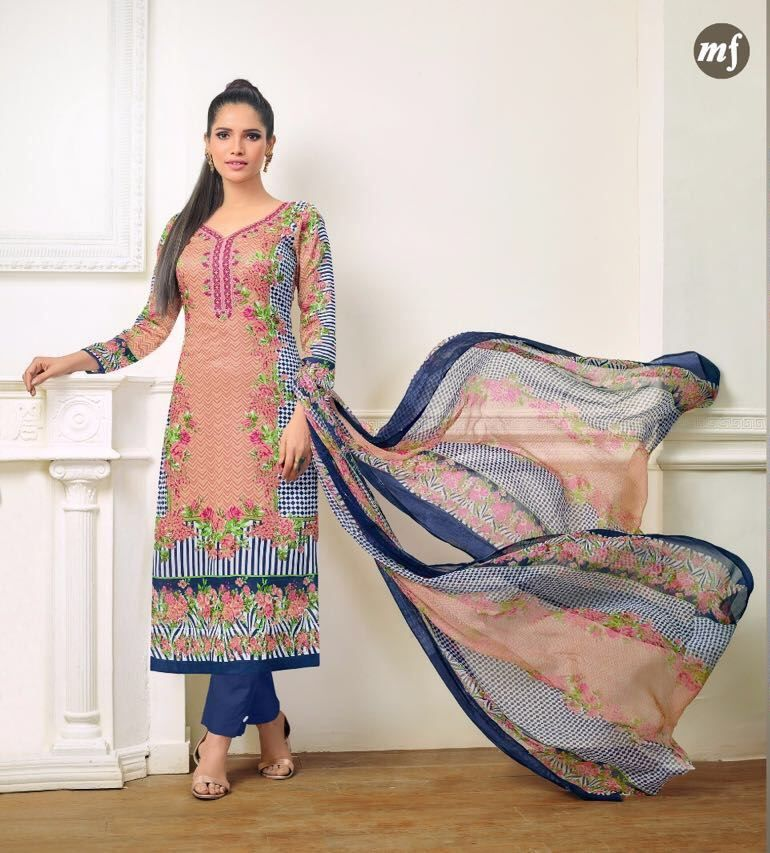 MF Essenza Vol-9 Digital Print With Heavy Embroidery Suits