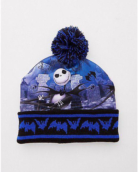 8d4af241717 Jack Skellington Beanie Hat - The Nightmare Before Christmas - Spencer s
