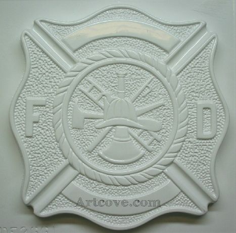 Fire Fighters Shield Plaster Mold 10-3/4 x 11 Inch. Here are some Plaster Molds we carry at Artcove.com. Fun, easy to make and affordable. Mix and pour plaster of paris, let harden and paint with acrylic paints.