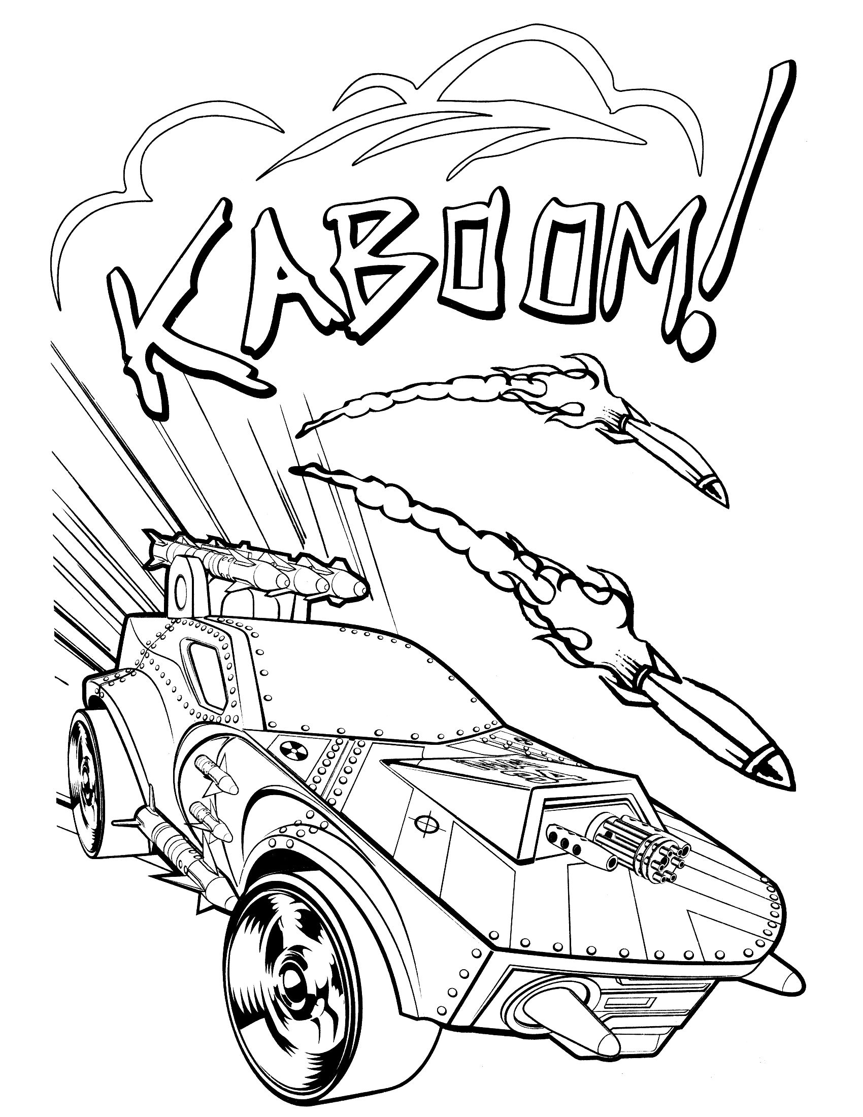 Hot Wheels Fired Missiles | Hot Wheels Coloring Pages | Pinterest