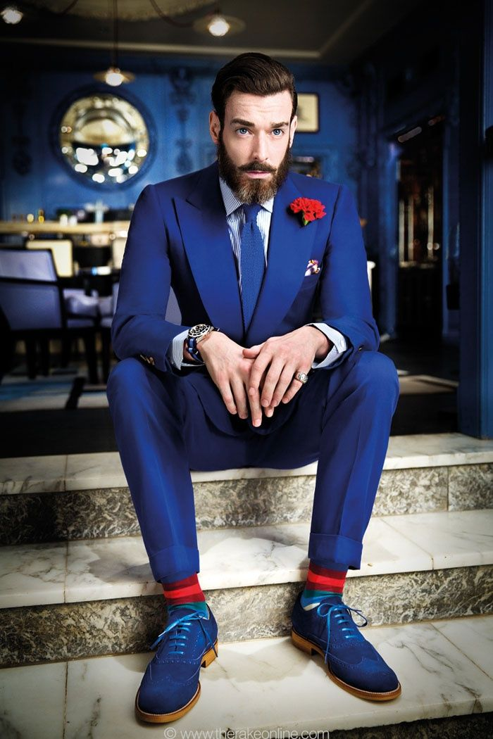 The Groom's Guide to Wearing a Colored Suit | Suits, Royal blue ...