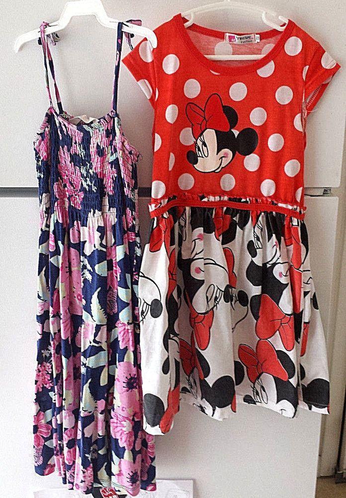 2ec208a53bc89 Girl's Sz 10/12 Dress Lot H&M Floral Sundress and Minnie Mouse Full Skirt  Dress #HM #Dress
