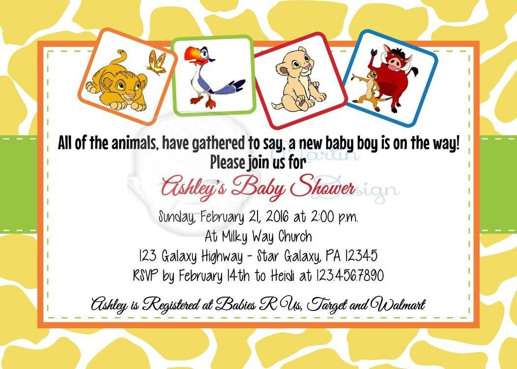 Baby Lion King Baby Shower Invitation by Martin Design. | Martin ...