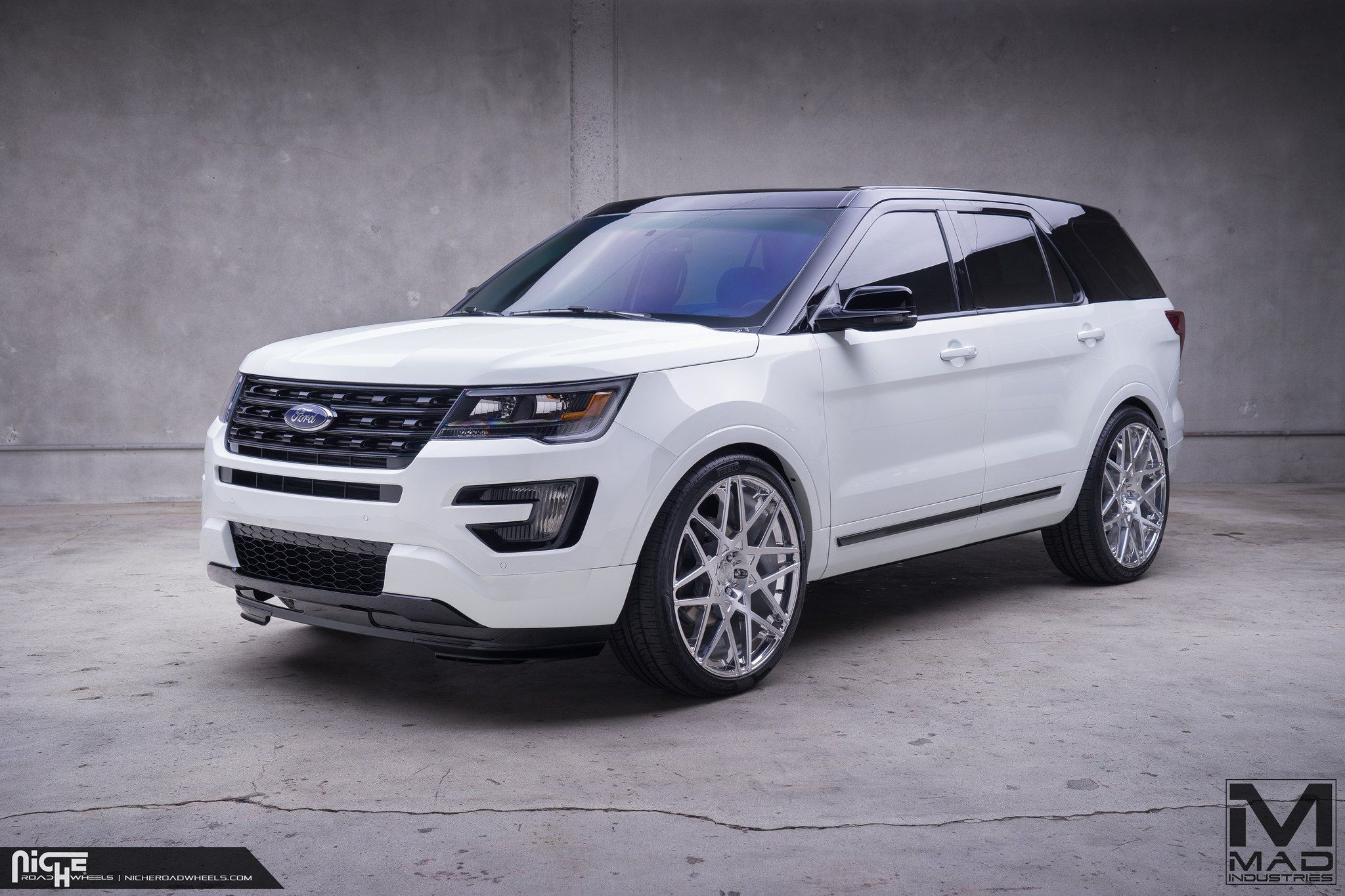 Black Top Ford Explorer On Niche Alpine D Custom Wheels 2019