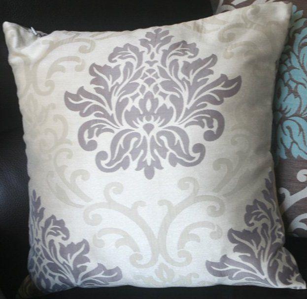 "Jacquard Cushion Pillow Cover 17""-18"" - Beige on Light Brown - $16.    http://www.amazon.com/Pair-Jacquard-Cushion-Pillow-Cover/dp/B005GQUEZO/ref=sr_1_123?s=home-garden=UTF8=1349389534=1-123=brown+and+beige+throw+pillows"