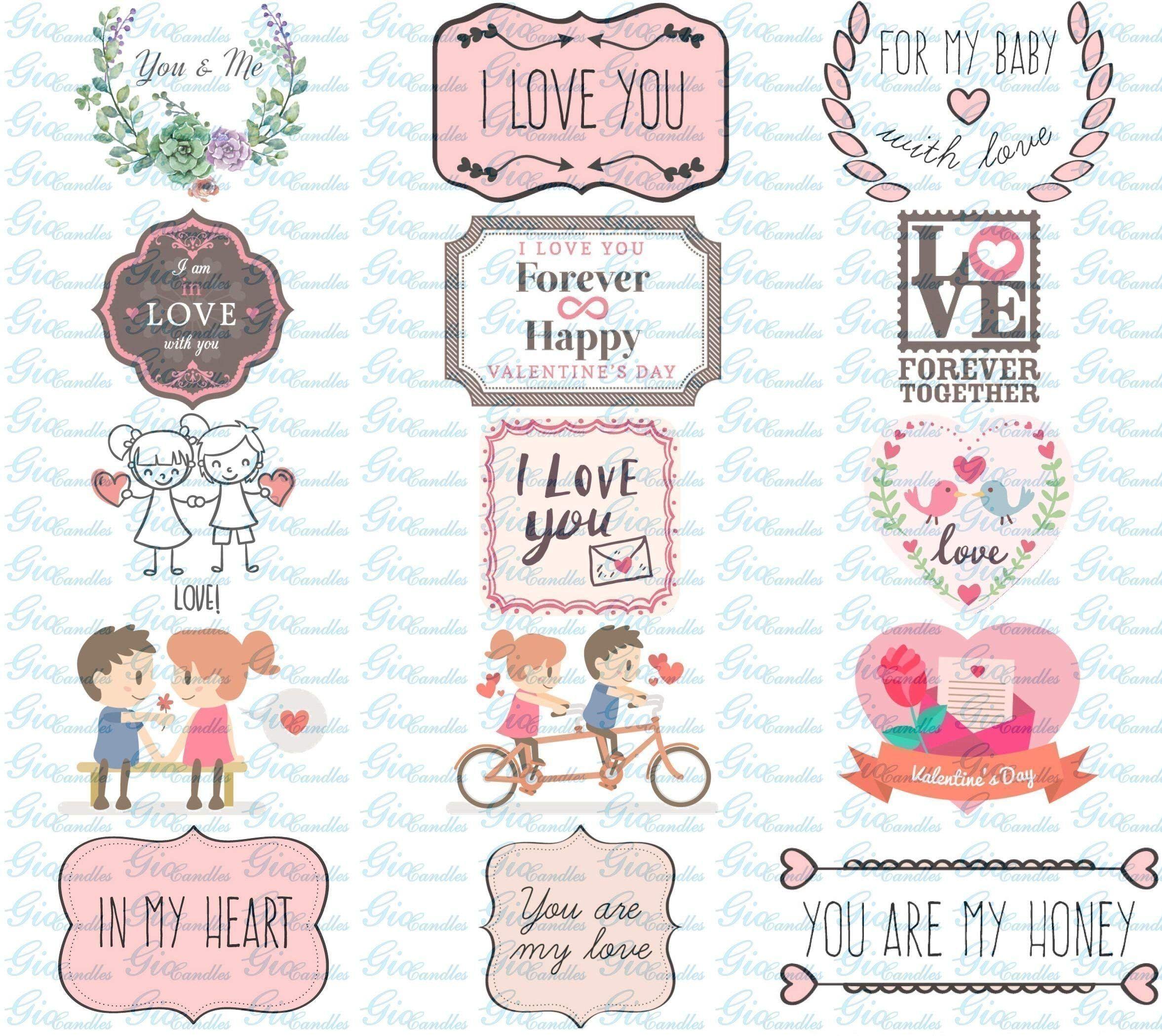 Anniversario Di Matrimonio Qumran.Ti Amo Frasi D Amore 2 Vasetti Con Candele Di Cera Di Soia E Oli