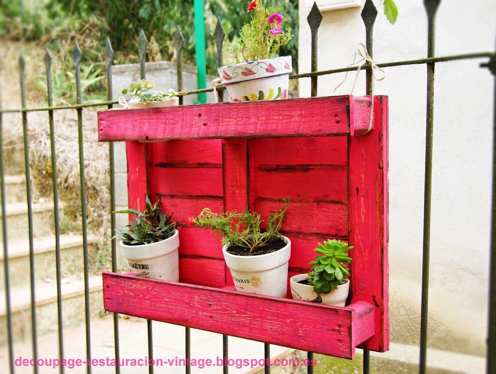 palets #jardín #ideas #pallet | Ideas con palets para jardín ...