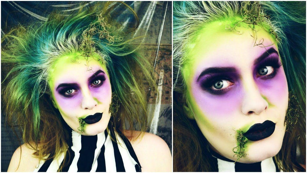 feminine) beetlejuice tutorial! // my halloween costume | gabi