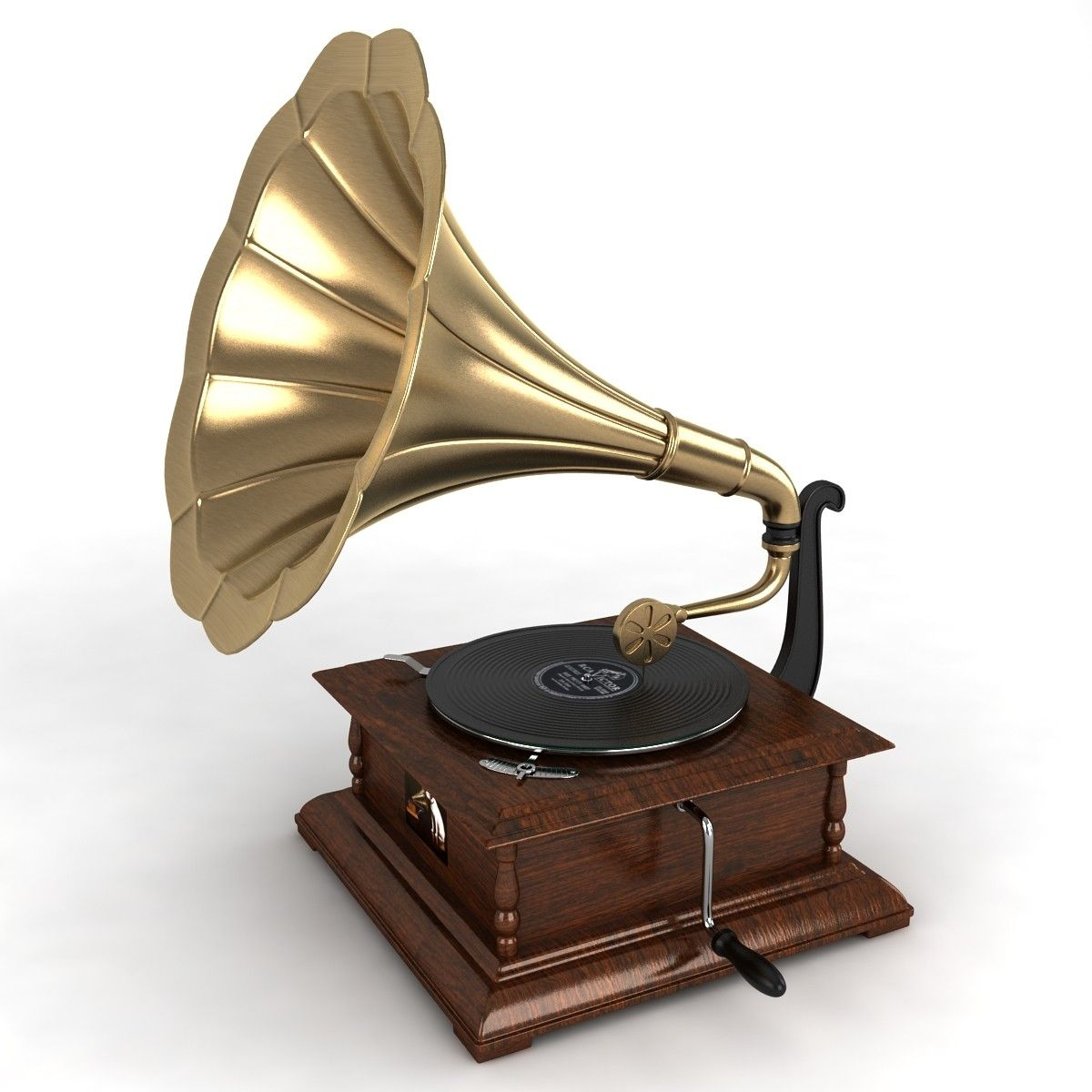 Gramophone 3d Model Photos 4 Sketch Practice Pinterest