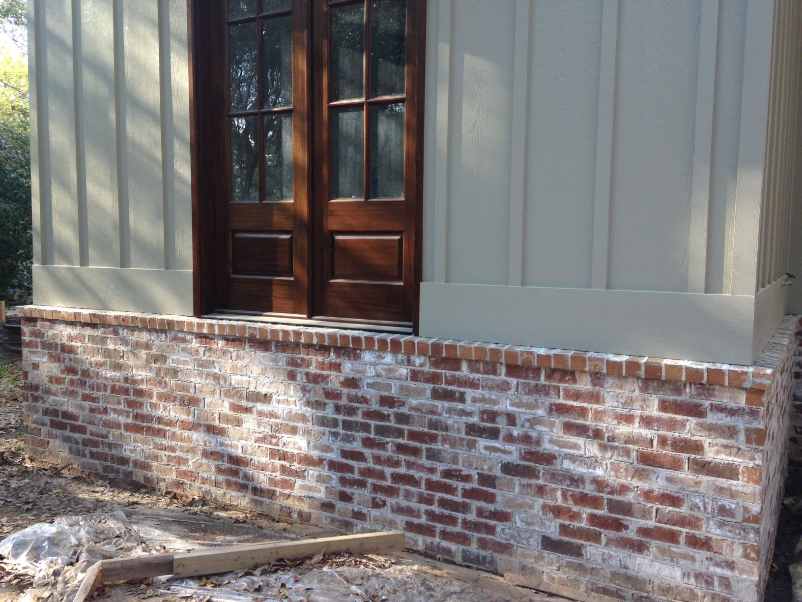 Hardie board over brick house google search bricks for Brick looking siding