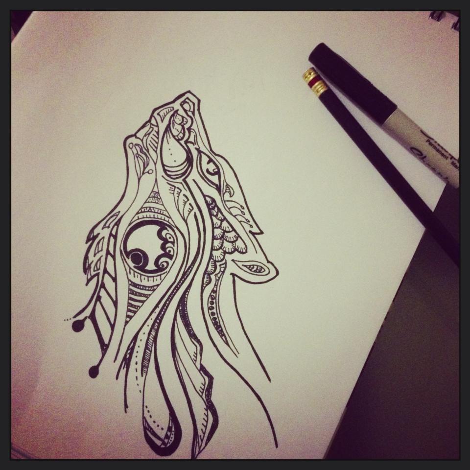 ca4752c23f4fa Wolf Tattoo by MilianFlyS.deviantart.com on @deviantART | art | Wolf ...