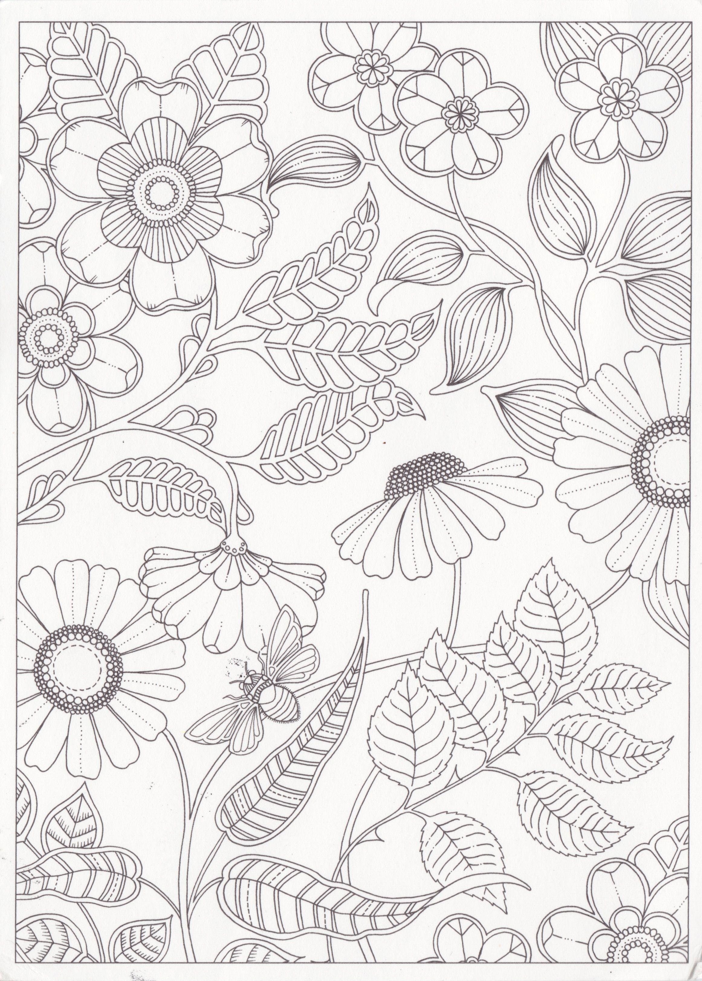 Garden Coloring Pages Flower Coloring Pages Secret Garden Coloring Book