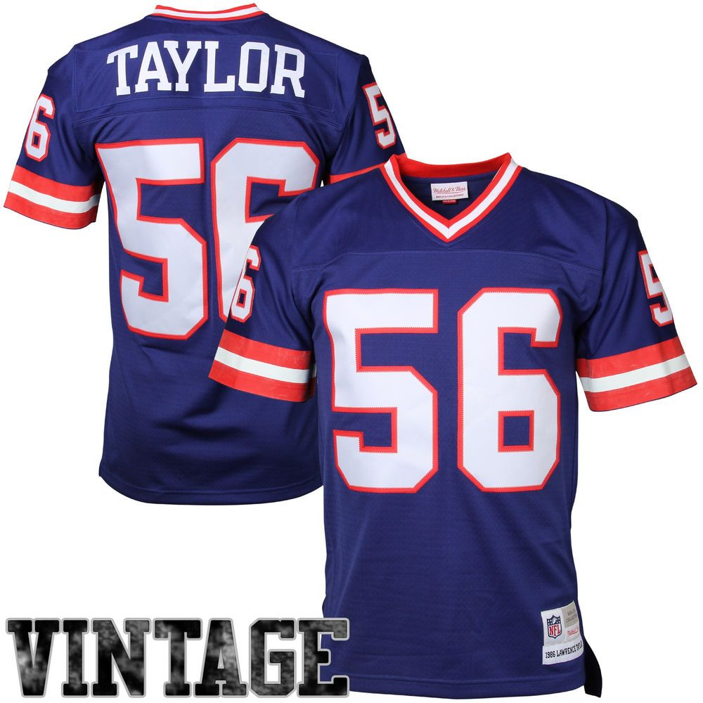 Mitchell Ness Lawrence Taylor New York Giants Royal Blue Retired Player Vintage Replica Jersey With Images New York Giants Jersey New York Giants Lawrence Taylor