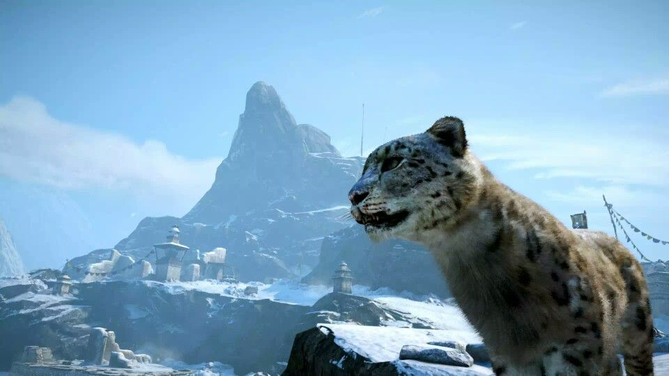 A Snow Leopard From Far Cry 4 Dlc Valley Of The Yetis Far Cry 4 Crying Snow Leopard