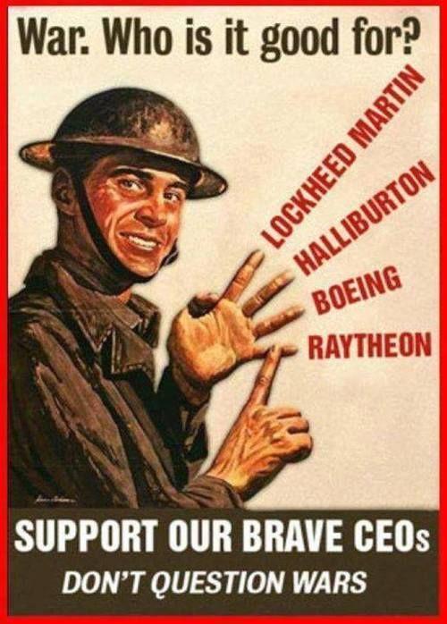 War Is a Racket as Gen. Smedley D. Butler said.