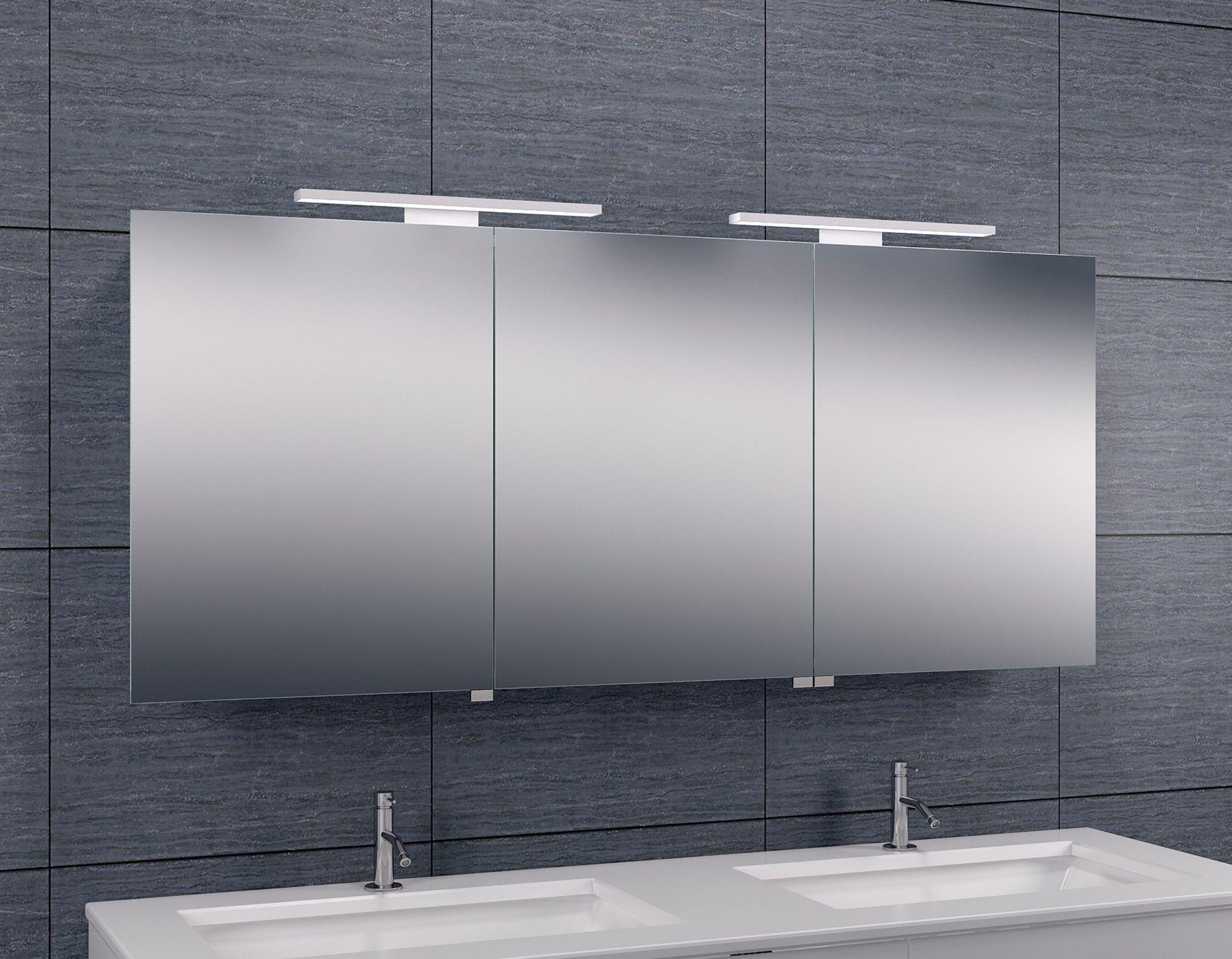 Luxe spiegelkast led verlichting 140x60x14cm 38.4155 badkamer