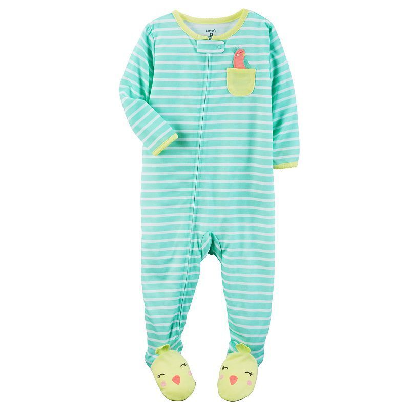0c3f47c33 Baby Girl Carter s Striped Footed Pajamas