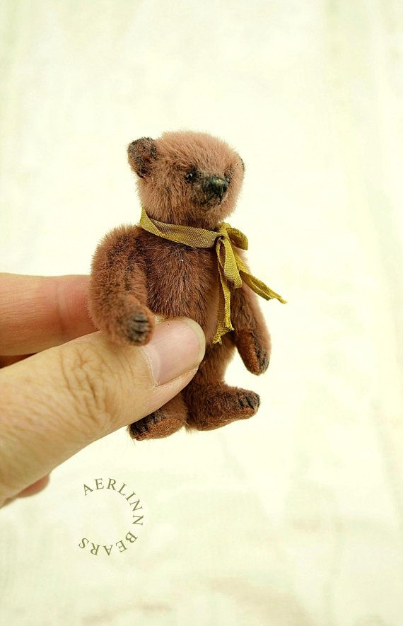 Munchkin, Miniature Mini Artist Teddy Bear from Aerlinn Bears ...