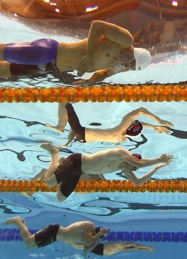 ADELAIDE, AUSTRALIA - APRIL 30: Lennard Bremer and Jeremy Meyer of Australia competes in the Mens 200 Metre Breaststroke during day five of the Australian Swimming Championships at SA Aquatic and Leisure Centre on April 30, 2013 in Adelaide, Australia. (Photo by Quinn Rooney/Getty Images)
